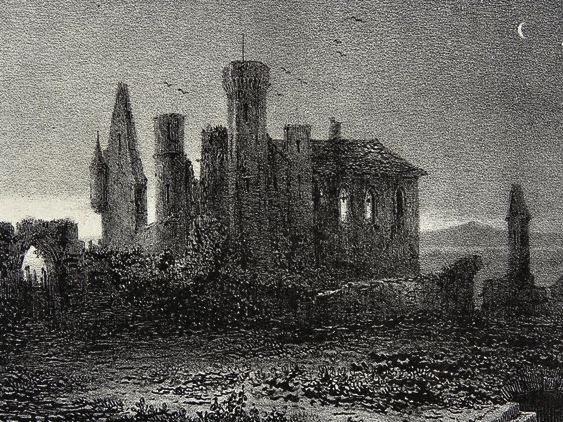 Vauvert Castle ruins (old postcard)